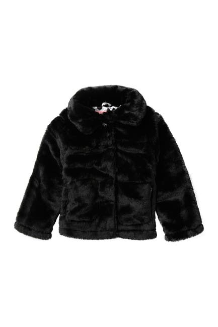 Image of Urban Republic Faux Fur Snap-Up Coat