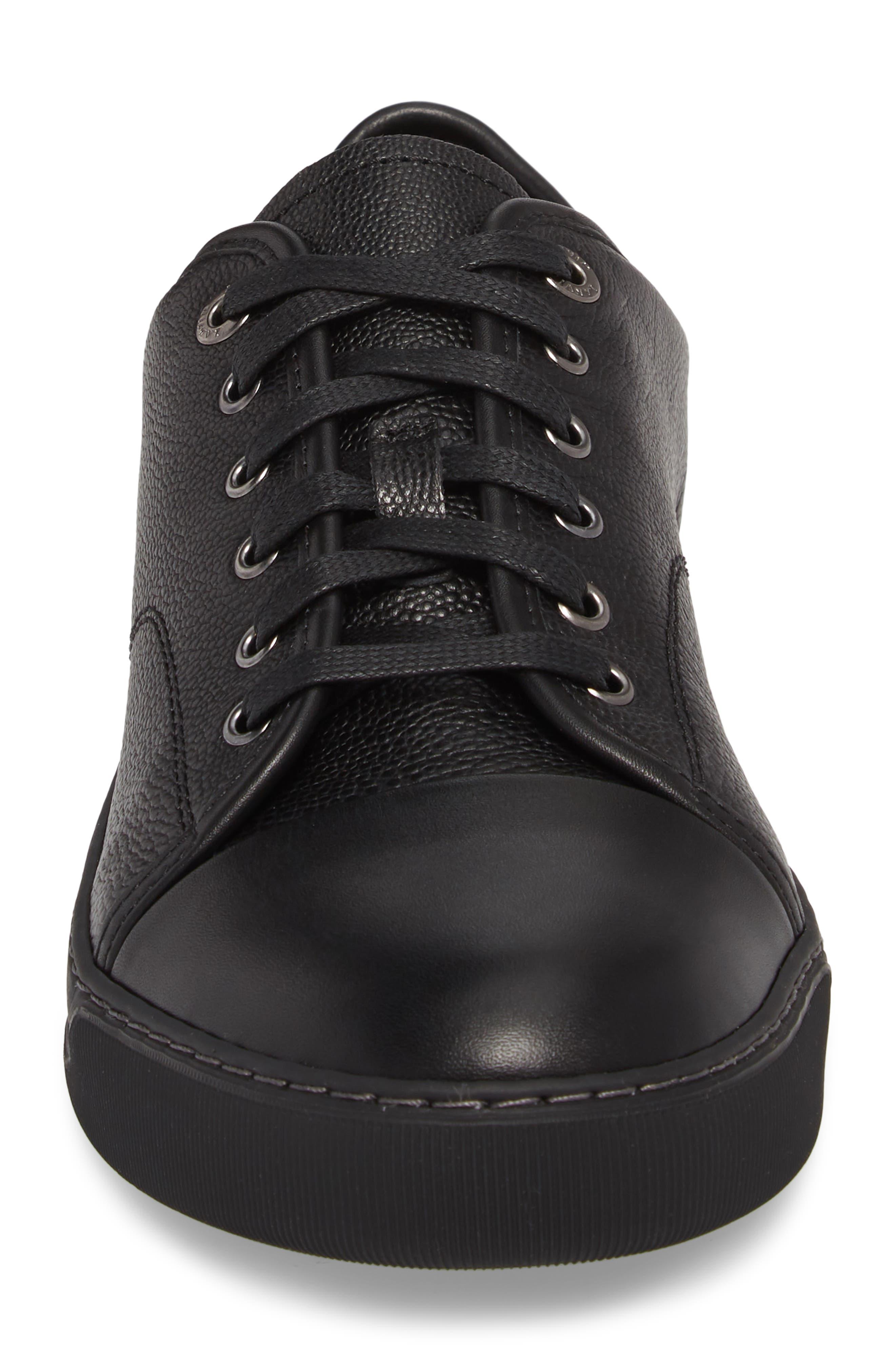 ,                             Shiny Cap Toe Sneaker,                             Alternate thumbnail 4, color,                             001