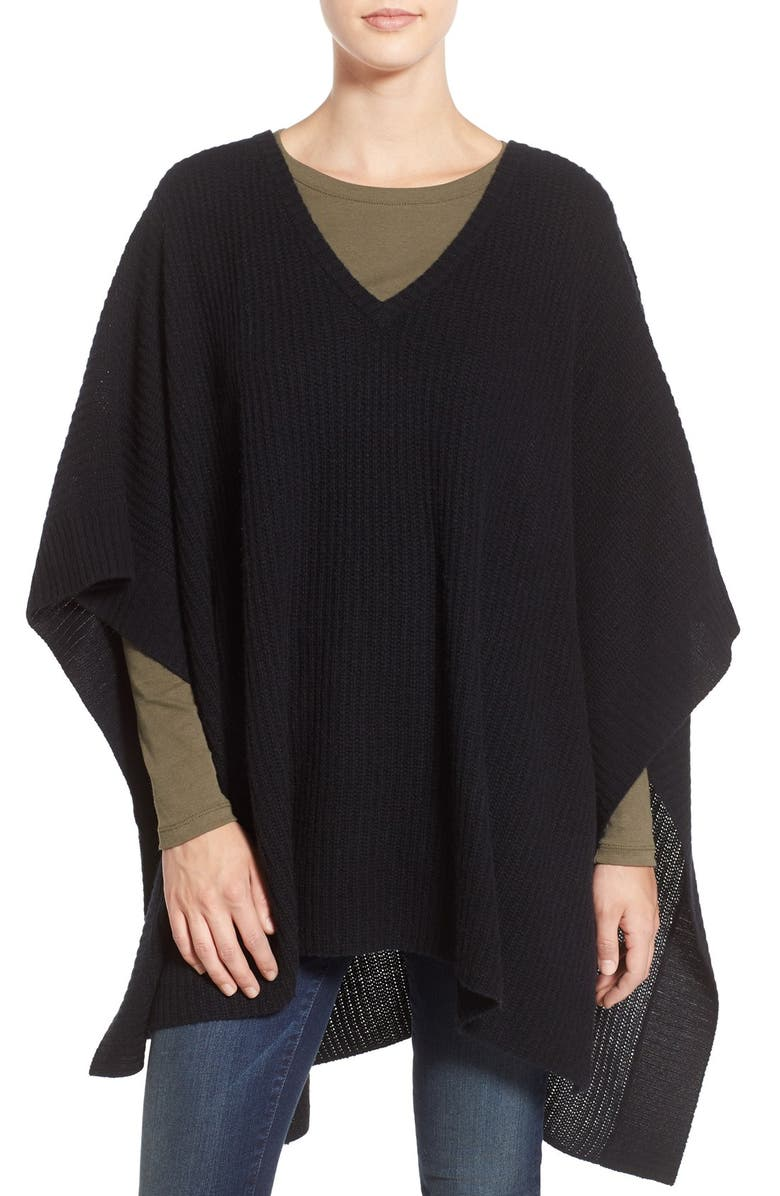 HALOGEN<SUP>®</SUP> Cashmere Poncho, Main, color, 001