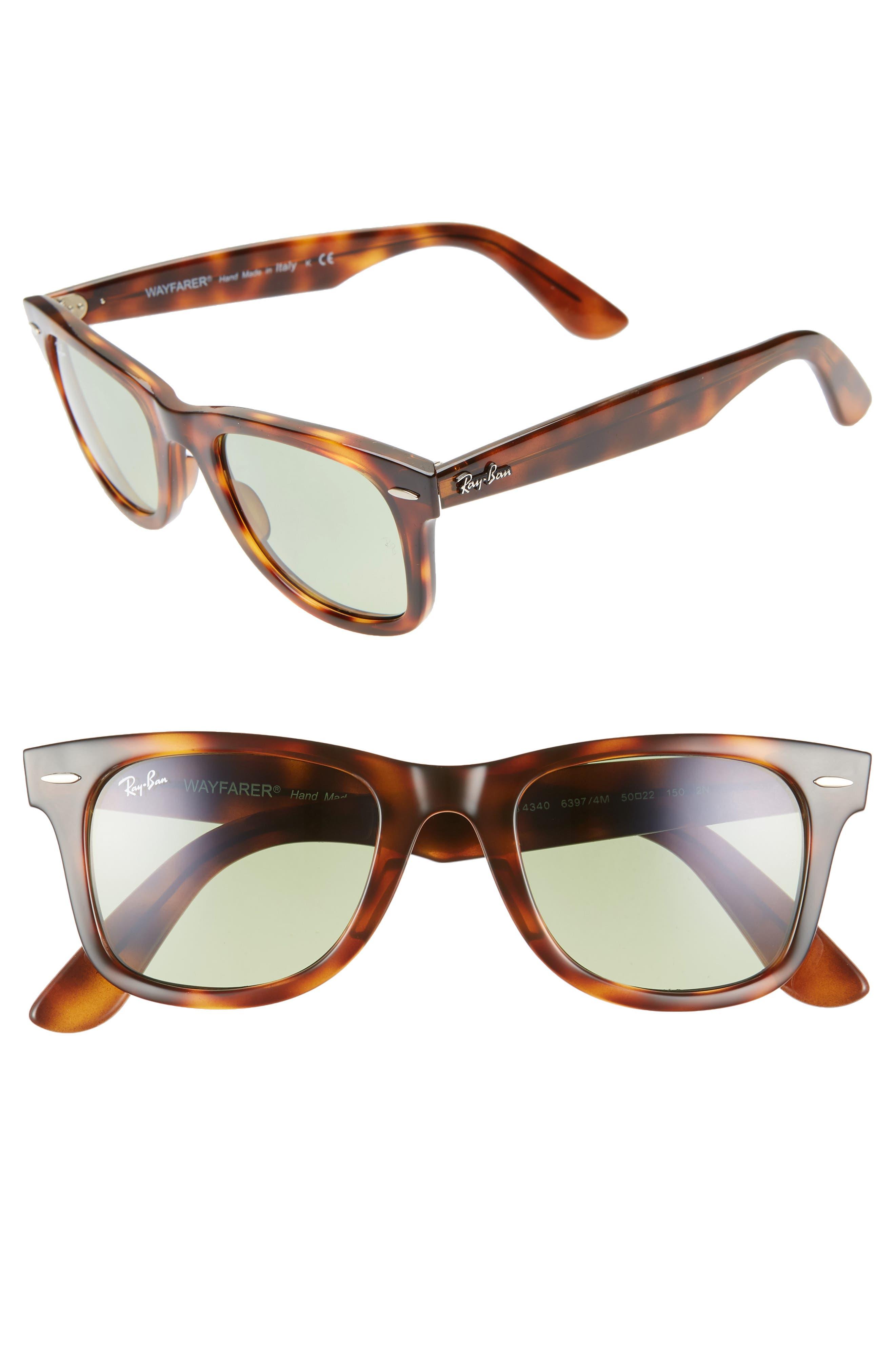 Ray-Ban Wayfarer 50Mm Gradient Sunglasses - Green