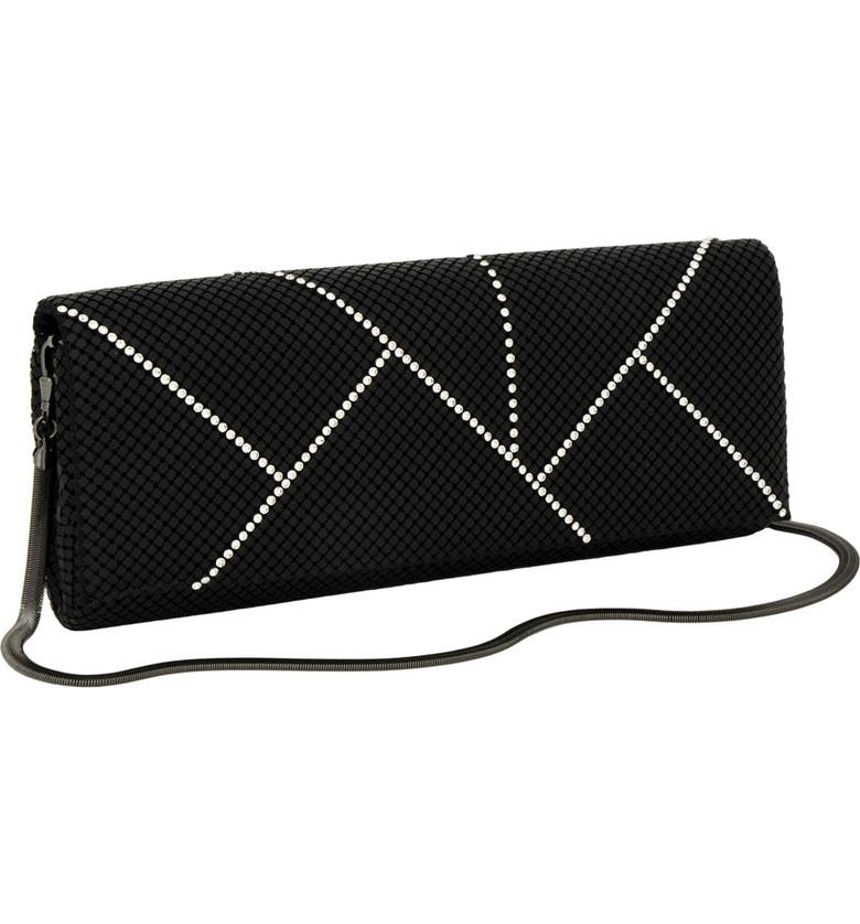 WHITING & DAVIS 'Crystal Segments' Flap Clutch, Main, color, 001