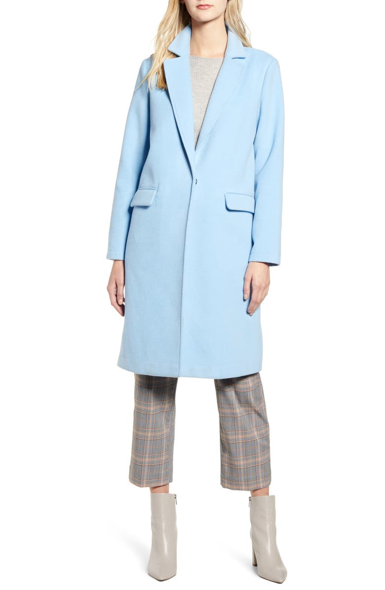 VINCE CAMUTO Lightweight Long Coat, Main, color, BRIGHT PERI