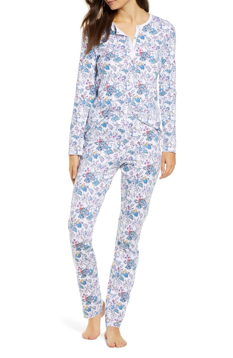 ROLLER RABBIT Charlie & Friends Henley Pajamas, Main, color, MULTI