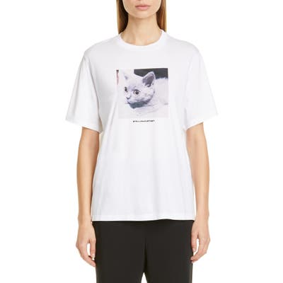 Stella Mccartney Cat Print Tee, US / 42 IT - White