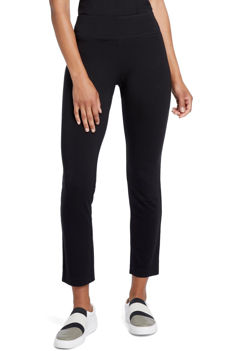 NIC+ZOE Ease Slim Cropped Pants, Main, color, BLACK ONYX