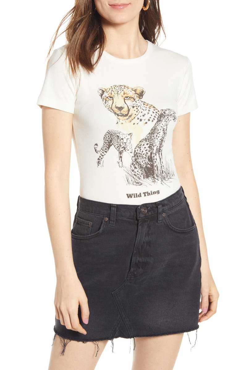 BDG Urban Outfitters Wild Things Graphic Tee, Main, color, WHITE