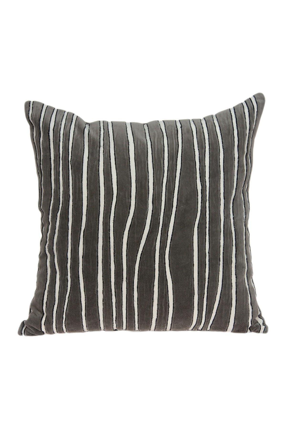 "Image of Parkland Collection Pilan Transitional Pillow - 20"" x 20"" - Grey"