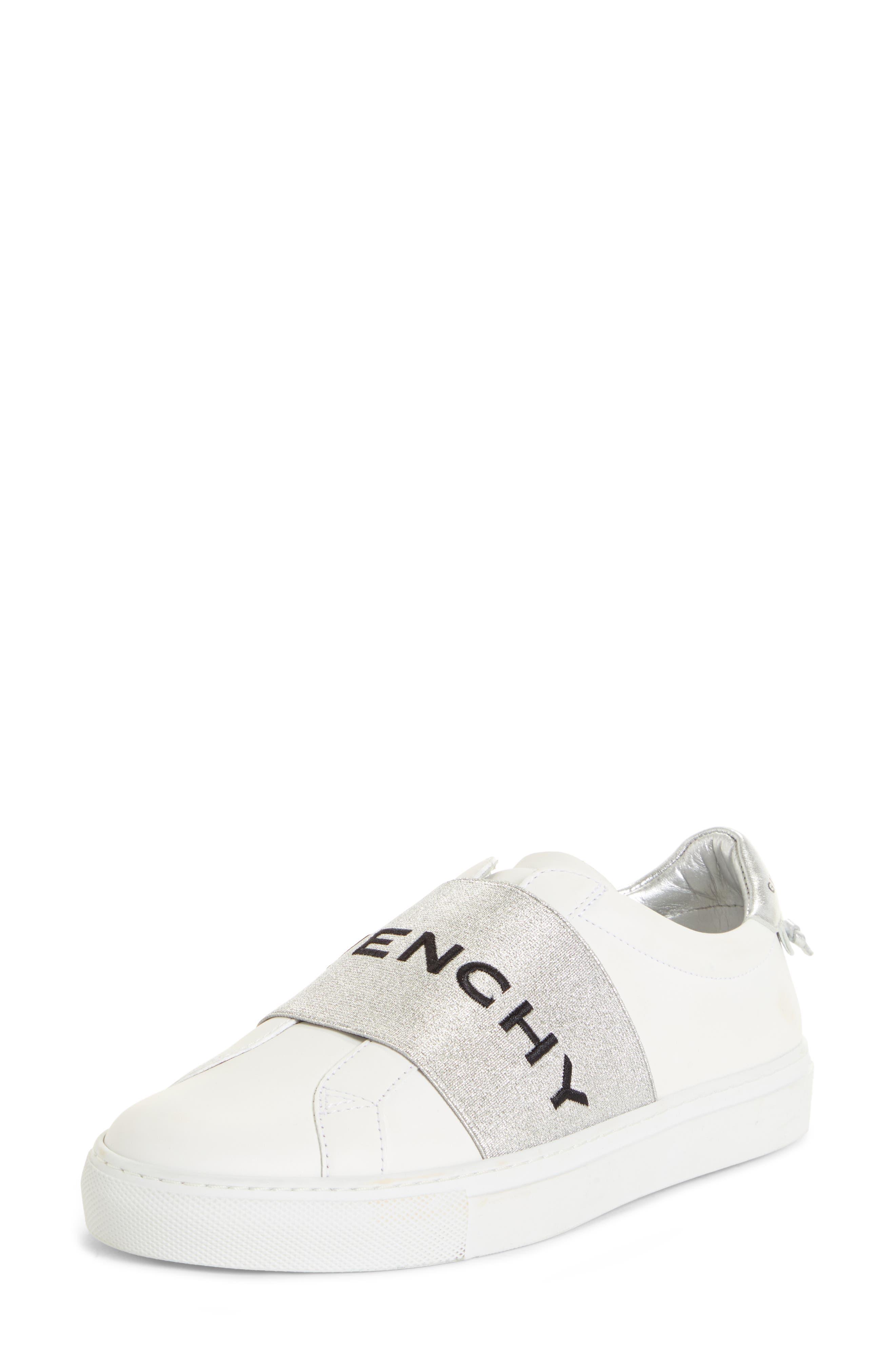 Givenchy Logo Strap Slip-On Sneaker, White