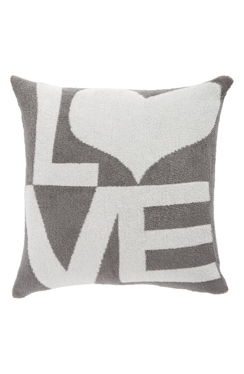 GIRAFFE AT HOME Dolce Love Throw Pillow, Main, color, CHARCOAL/ SILVER