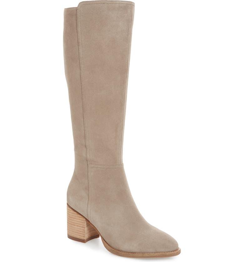 BLONDO Noreen Waterproof Knee High Boot, Main, color, MUSHROOM SUEDE