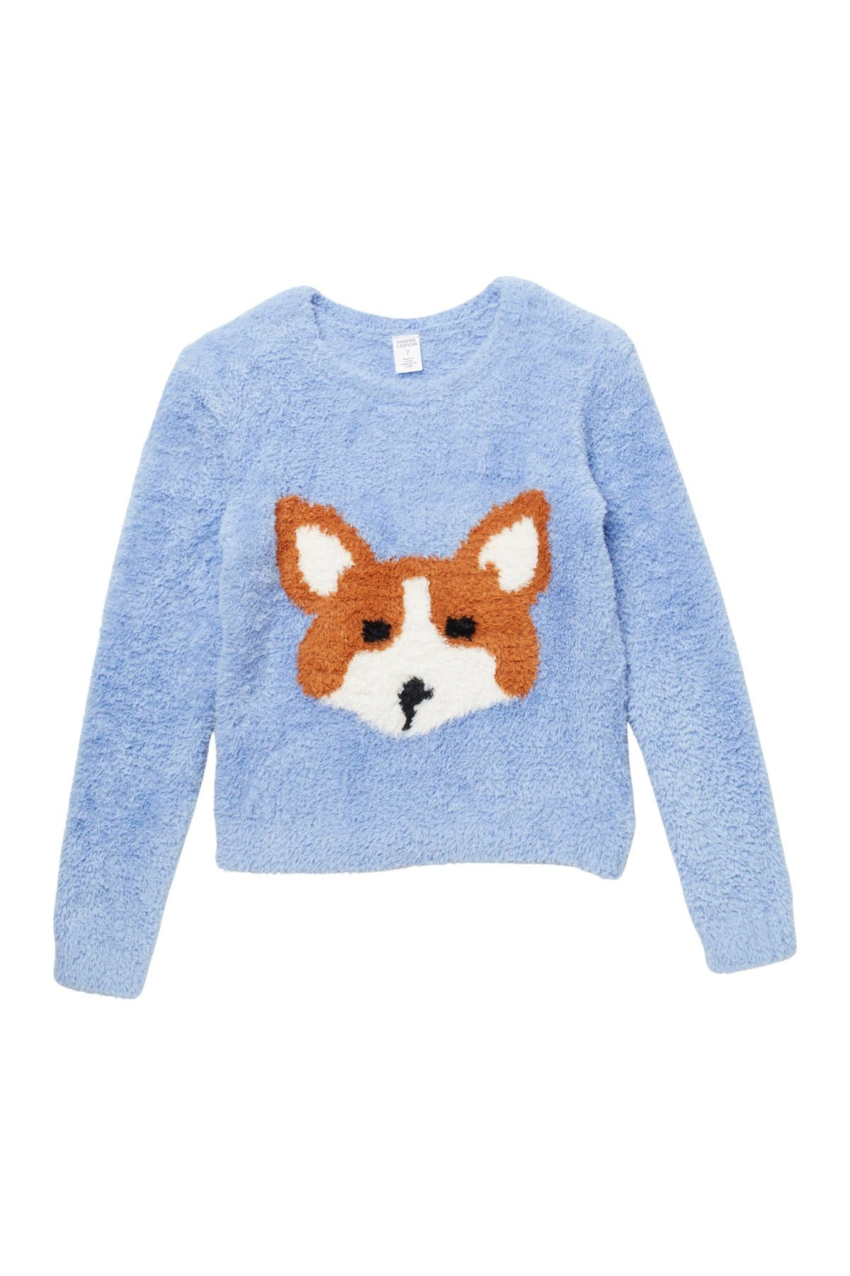 Image of Harper Canyon Fluffy Intarsia Sweater