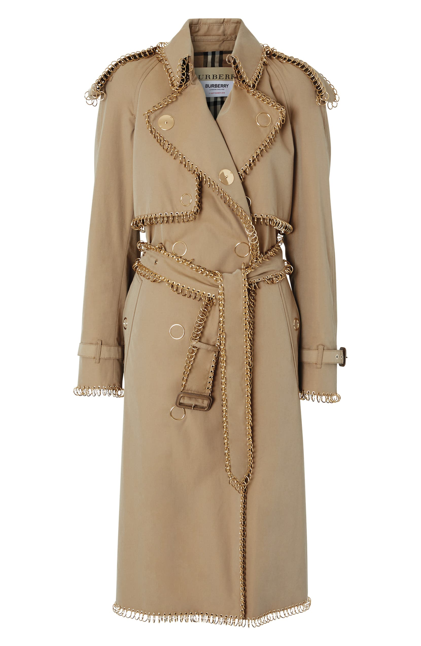 4921068c67f4d5 Burberry Pierced Double Breasted Cotton Trench Coat | Nordstrom
