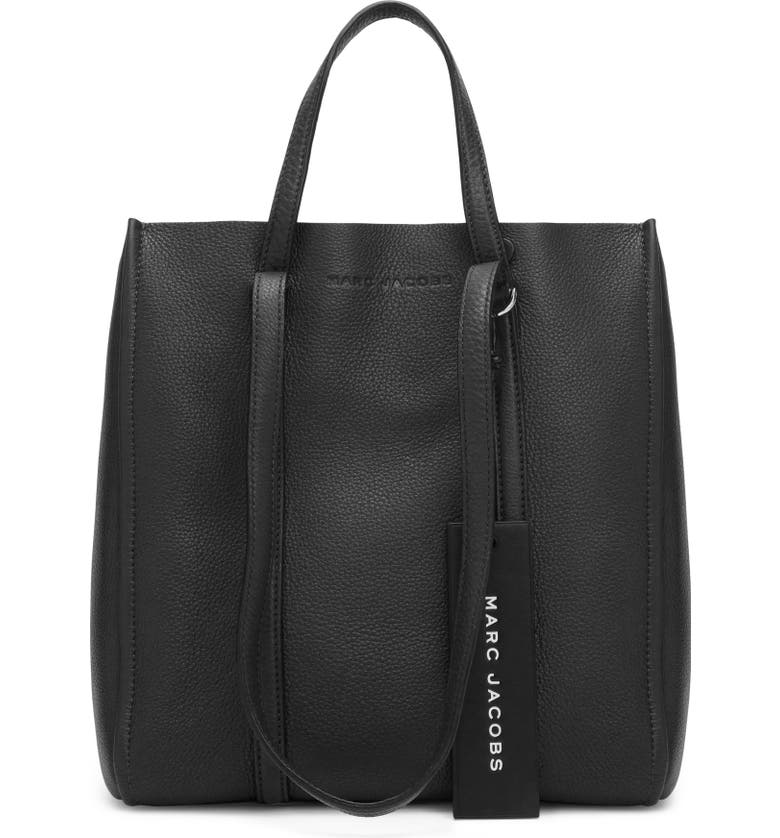 THE MARC JACOBS MARC JACOBS The Tag 27 Leather Tote, Main, color, 001