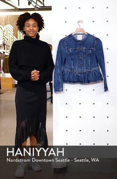 Peplum Denim Jacket, sales video thumbnail