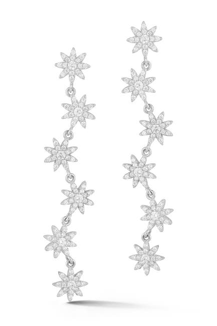 Image of Sphera Milano Sterling Silver Flower Earrings