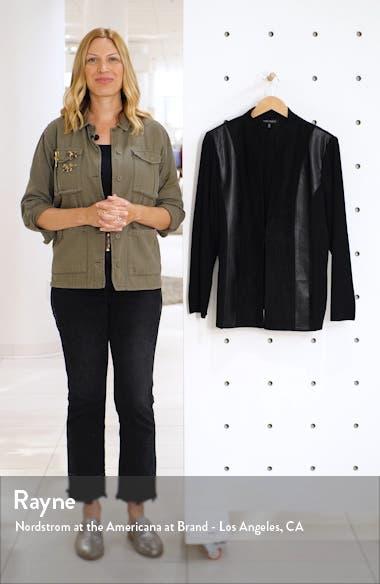 Faux Leather & Suede Patchwork Jacket, sales video thumbnail