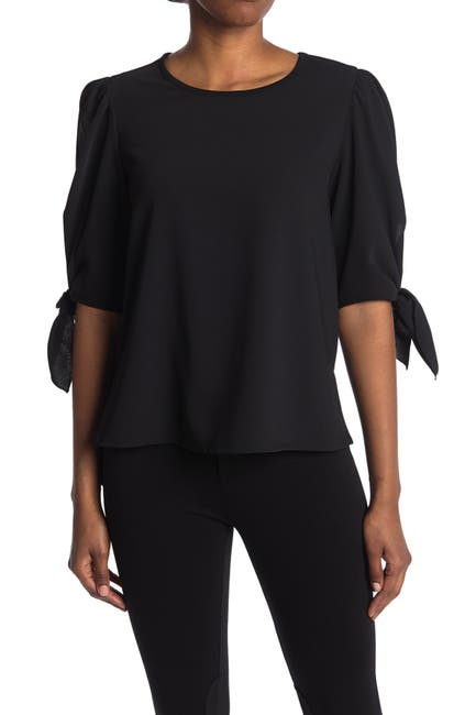 Image of See By Chloe Woven Tie Sleeve Blouse