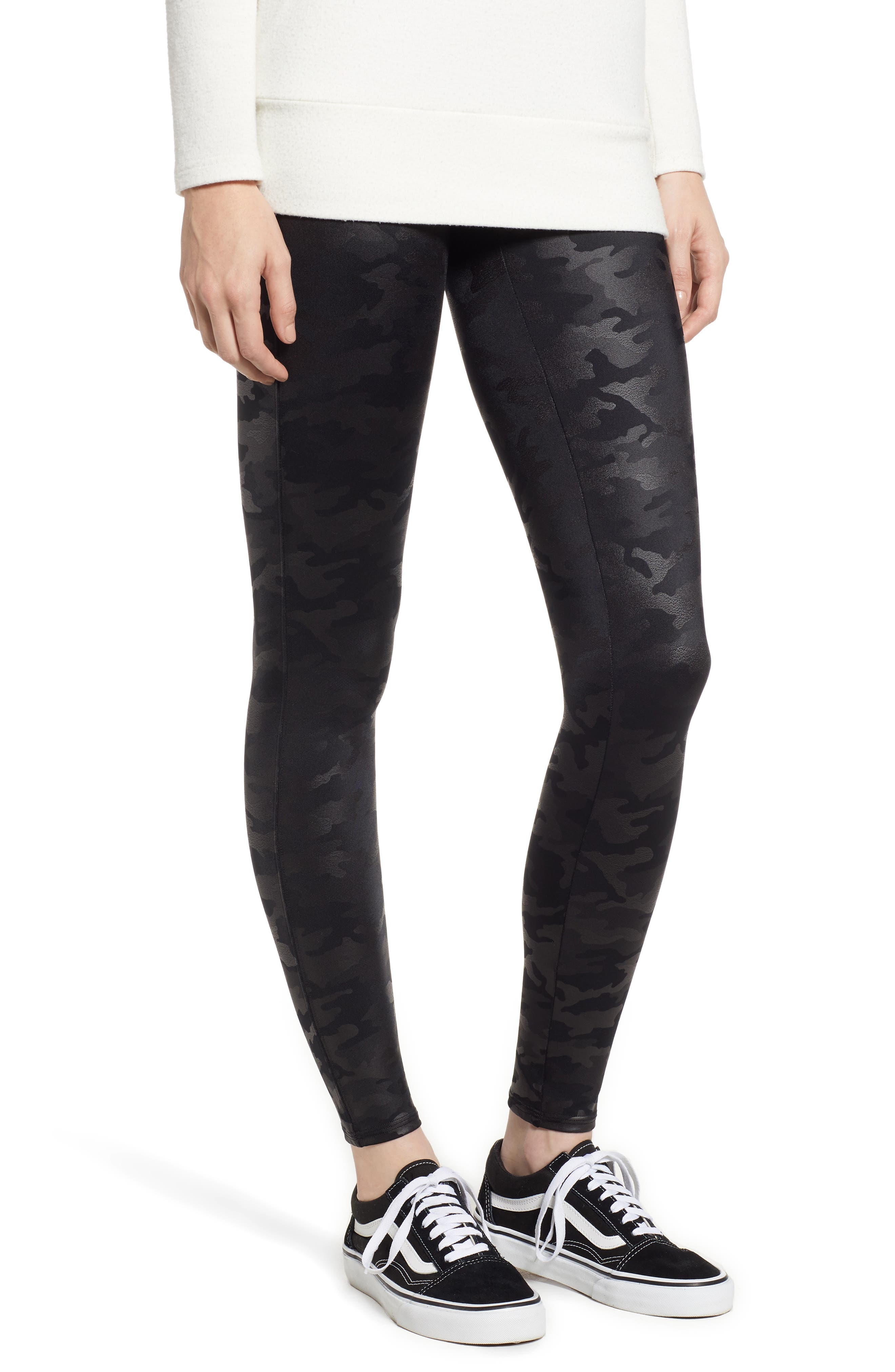 SPANXR Petite Women's Spanx Camo Faux Leather Leggings