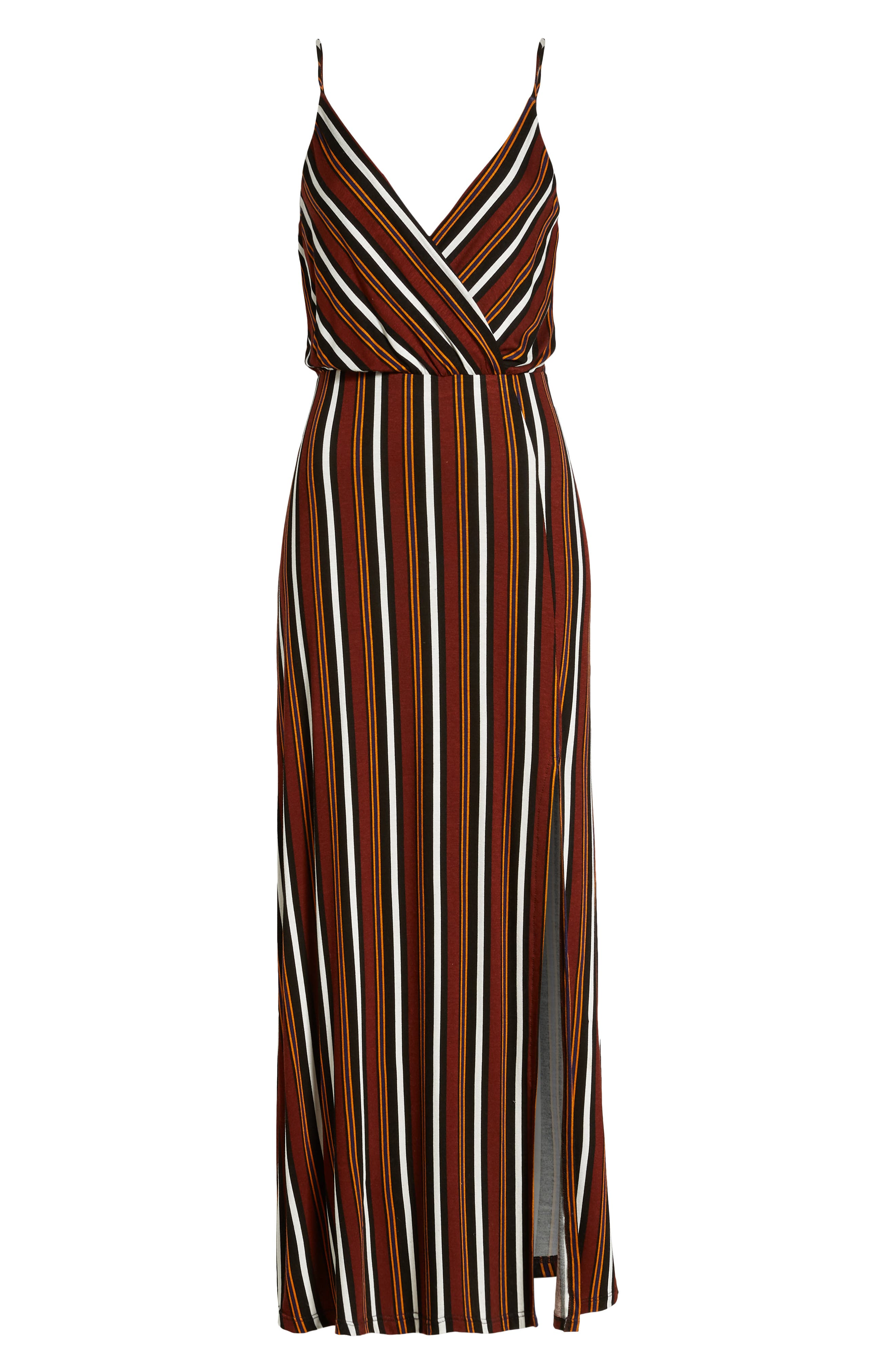 ,                             Surplice Neck Knit Maxi Dress,                             Alternate thumbnail 13, color,                             200