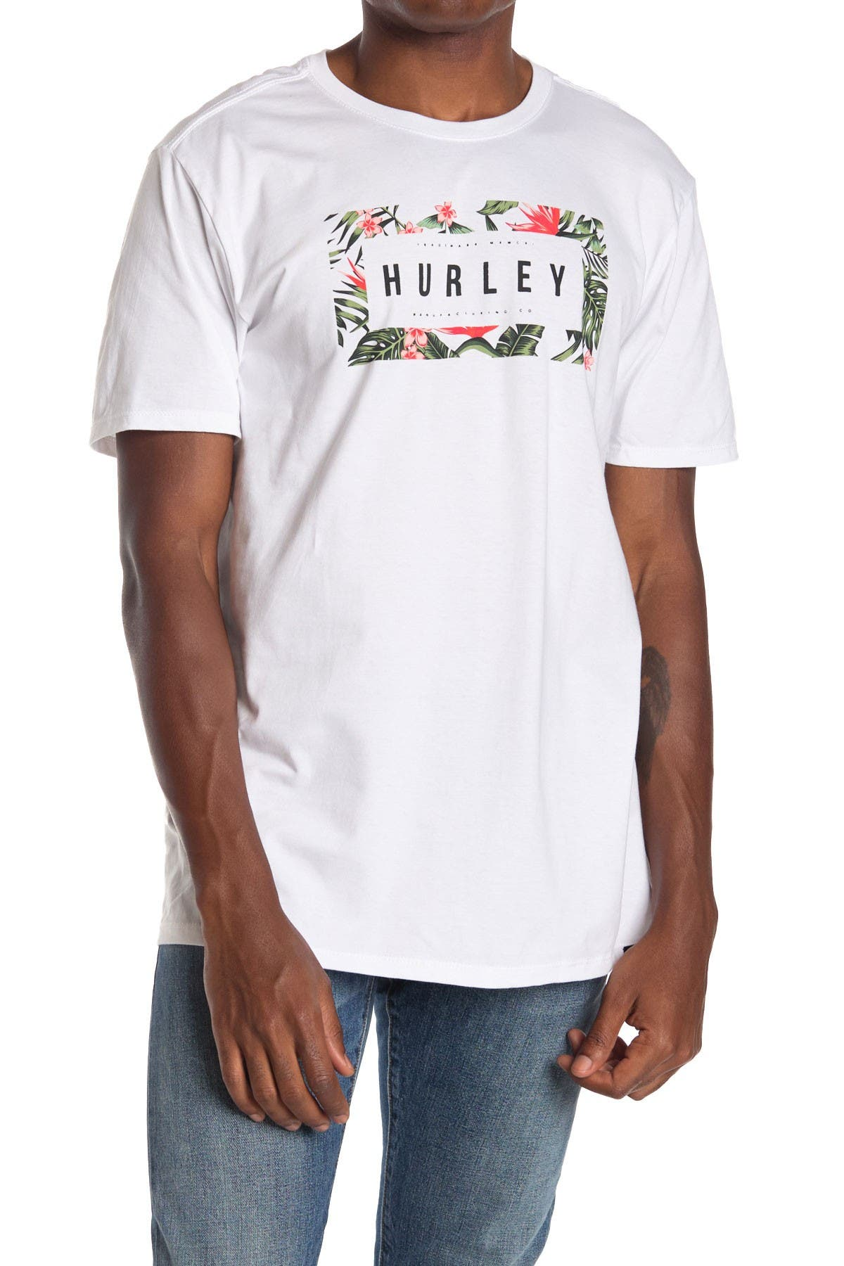 Image of Hurley Flashback Floral Short Sleeve T-Shirt