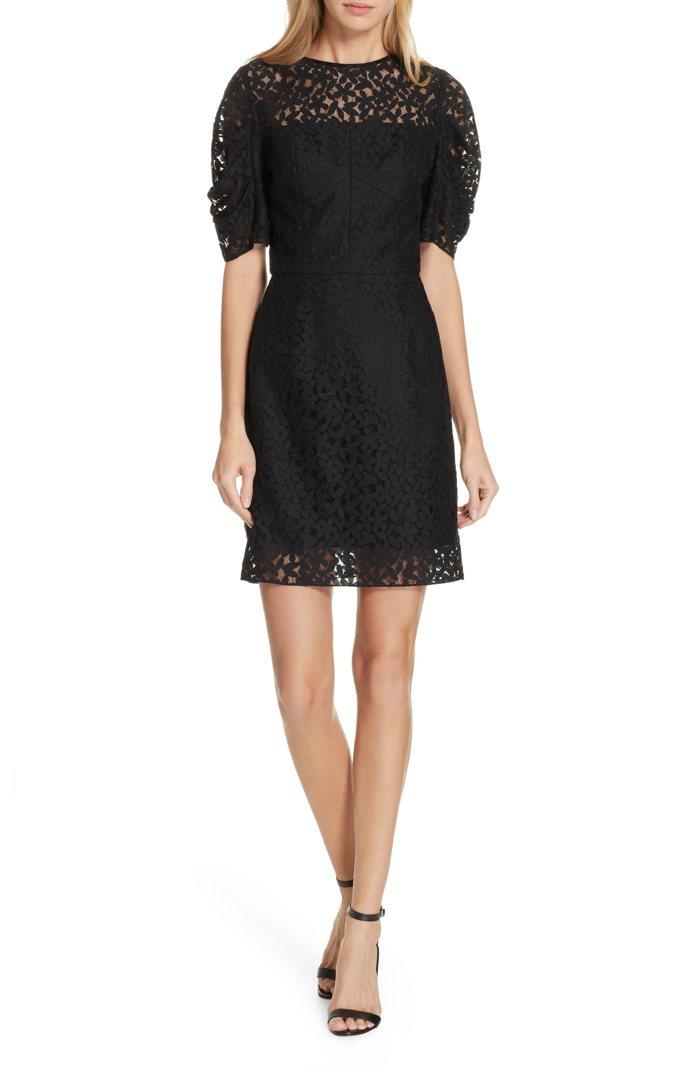 Milly Kara Lace Sheath Dress, Black
