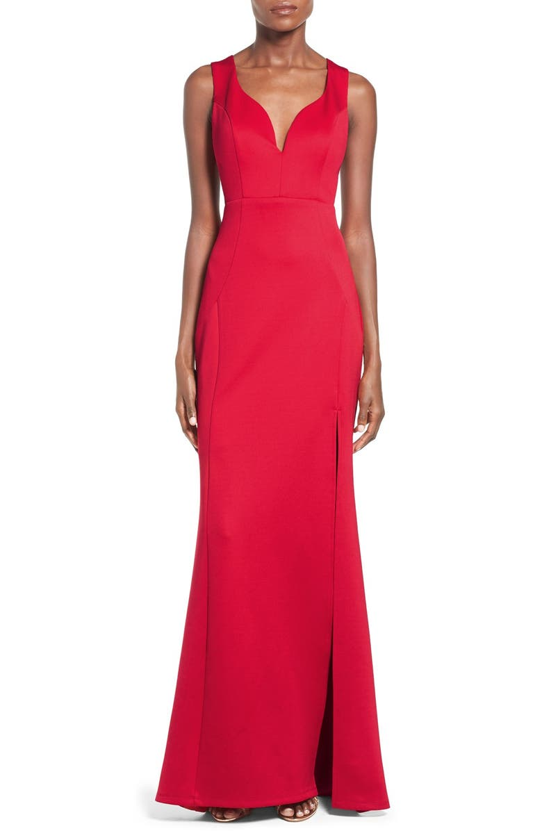 LOVE, NICKIE LEW Side Cutout Gown, Main, color, 625