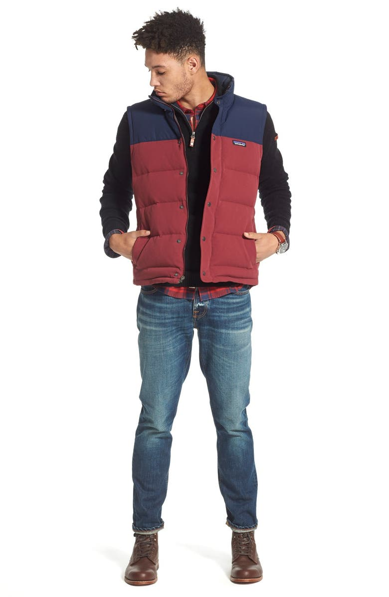 PATAGONIA 'Bivy' Water Repellent Traceable 600 Fill Power Down Vest, Main, color, 402