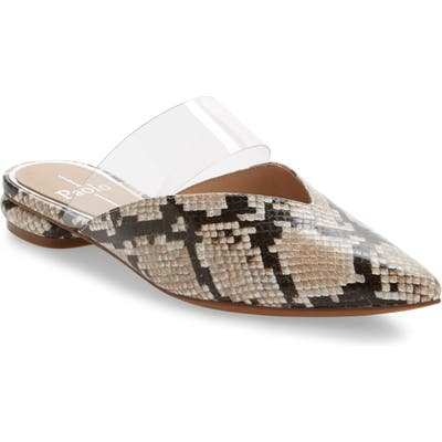 Linea Paolo Abril Pointy Toe Mule- Ivory
