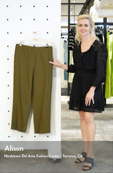 Linen Blend Twill Crop Pants, sales video thumbnail