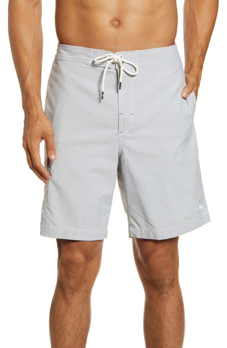 TOMMY BAHAMA Sea Glass Baha Classic Fit Board Shorts, Main, color, BALA SHARK