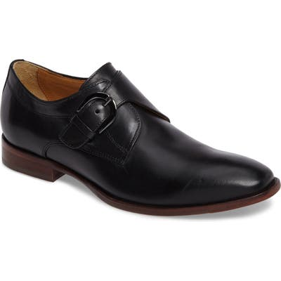 Johnston & Murphy Mcclain Monk Strap Shoe, Black