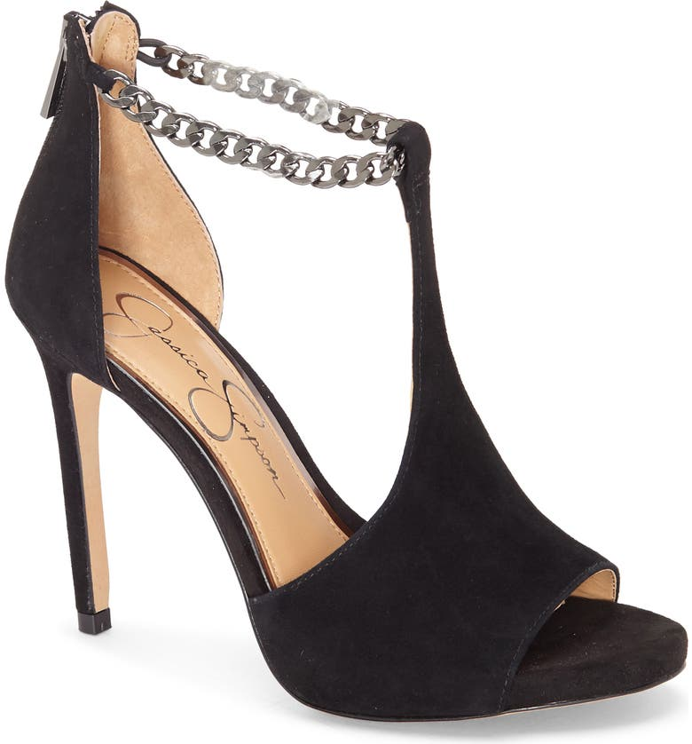 JESSICA SIMPSON Rexa Sandal, Main, color, BLACK SUEDE
