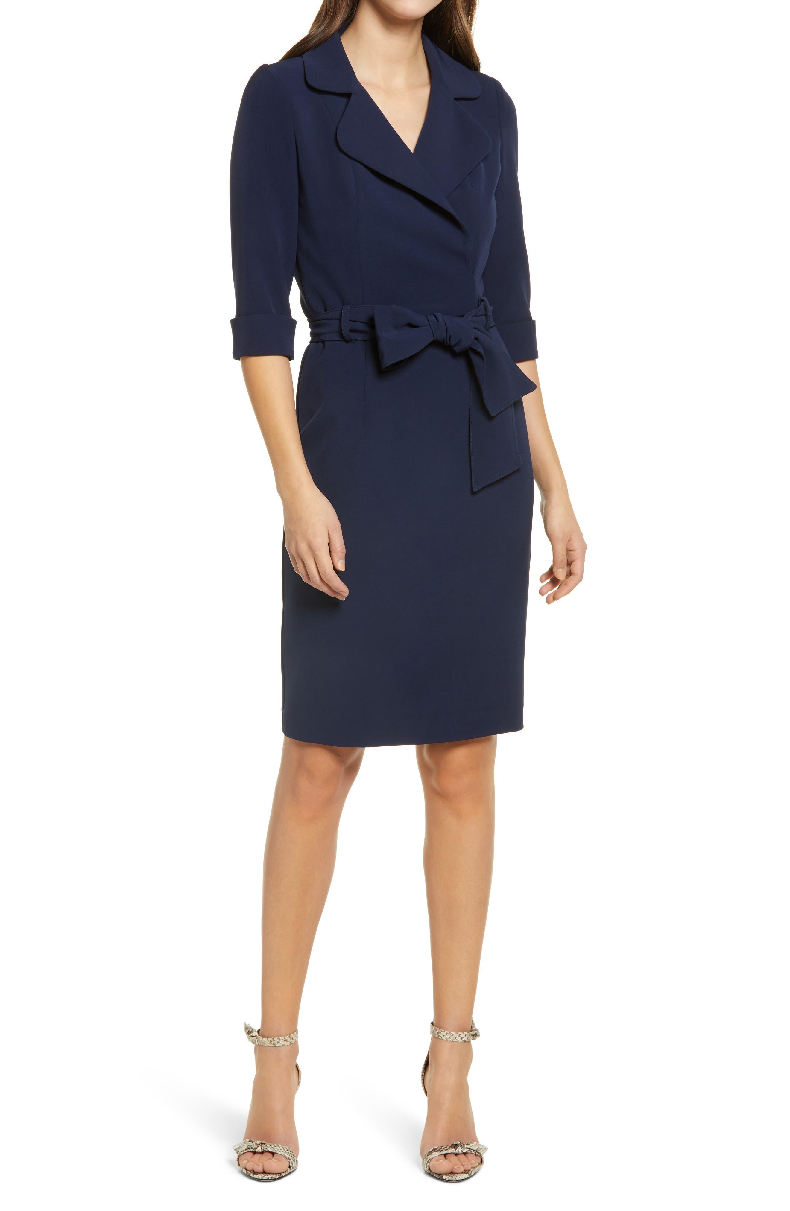 Lucinda Faux Wrap Coat Dress