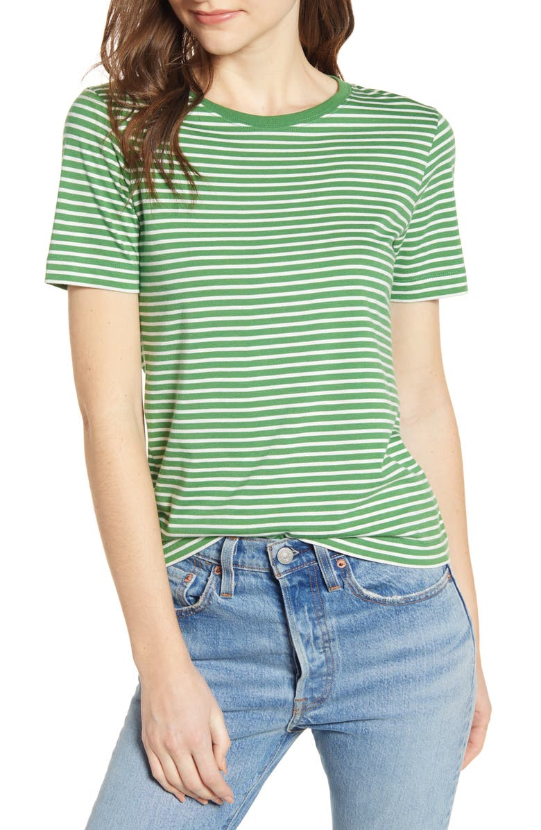 ALEX MILL Stripe Shrunken Tee, Main, color, 300