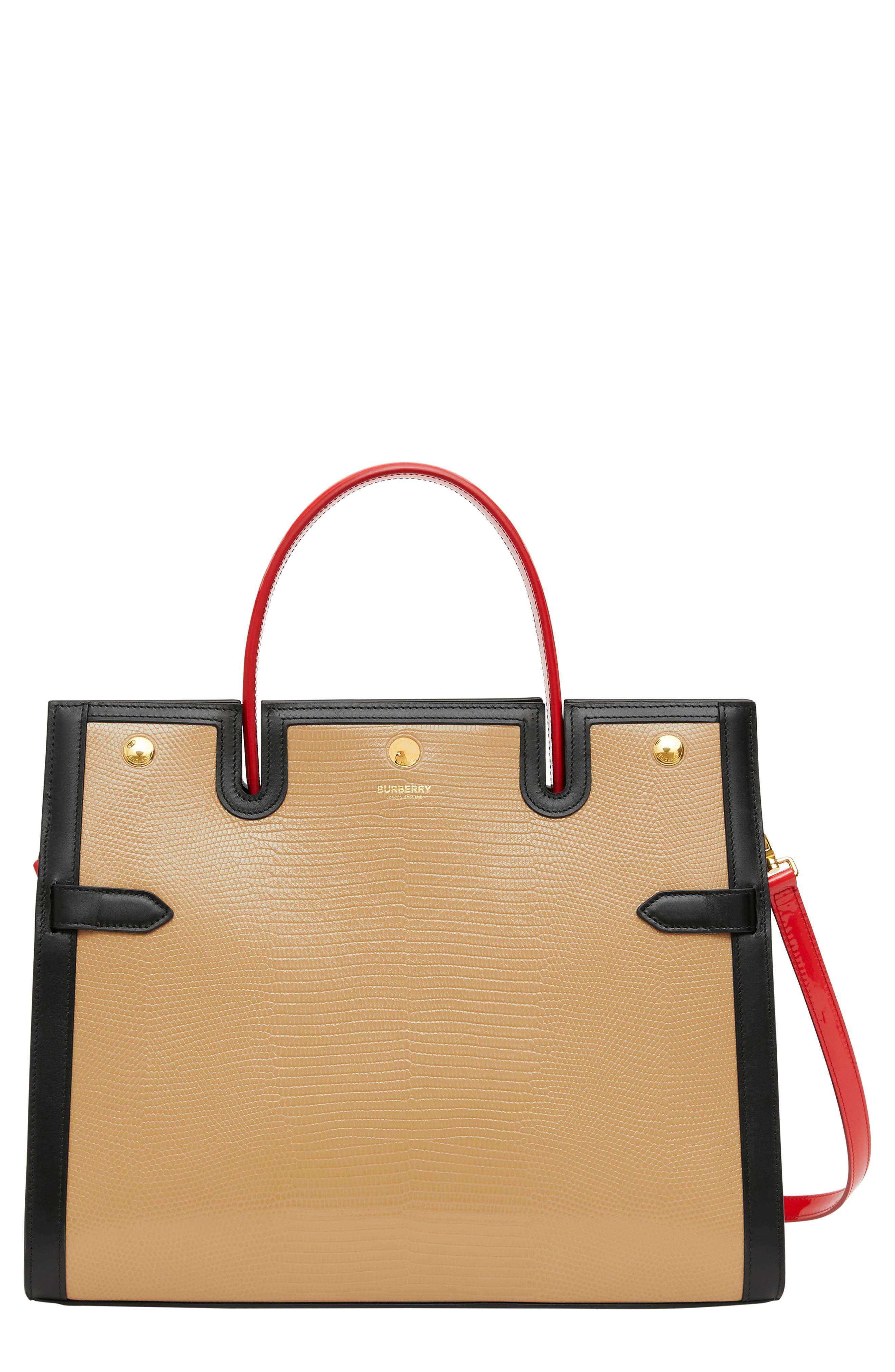 Burberry Bags Medium Title Lizard Embossed Leather Bag