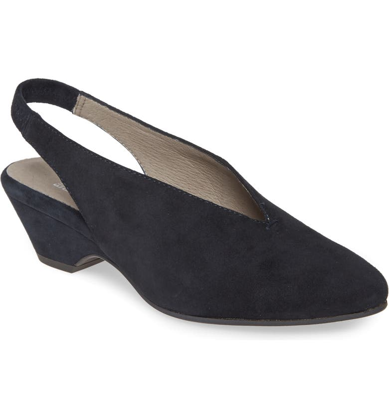EILEEN FISHER Gatwick Slingback Pump, Main, color, MIDNIGHT SUEDE