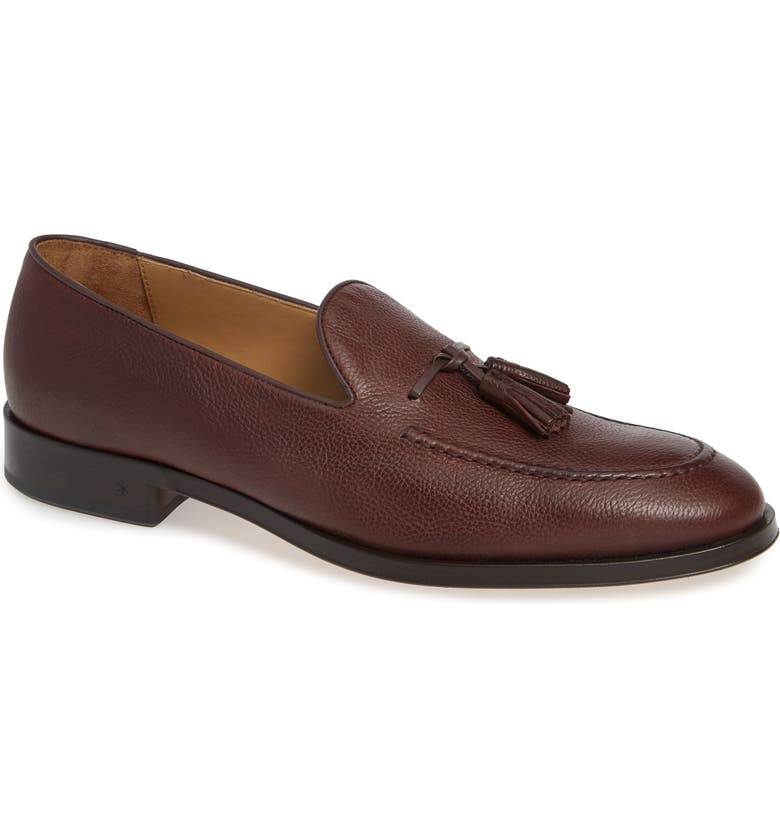 ALLEN EDMONDS Perugia Tassel Loafer, Main, color, OXBLOOD LEATHER