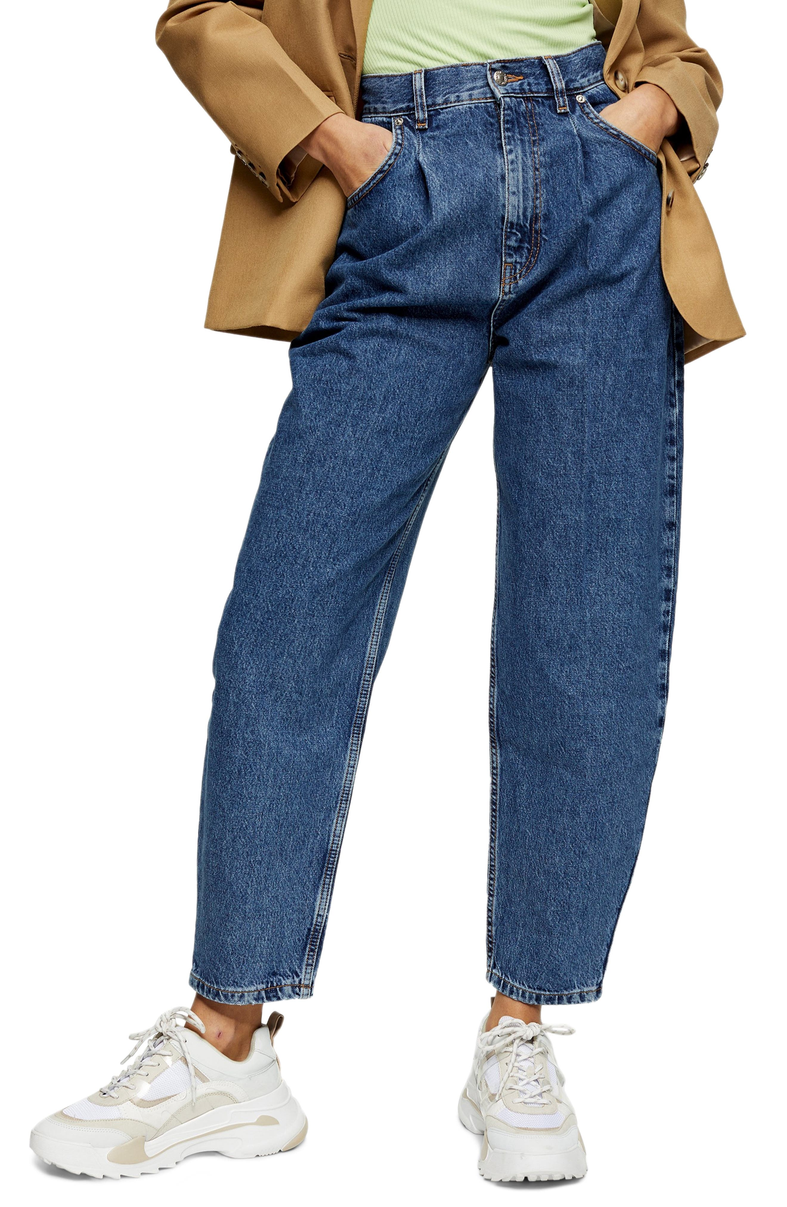 80s Jeans, Pants, Leggings Womens Topshop Balloon Tapered Jeans $28.12 AT vintagedancer.com