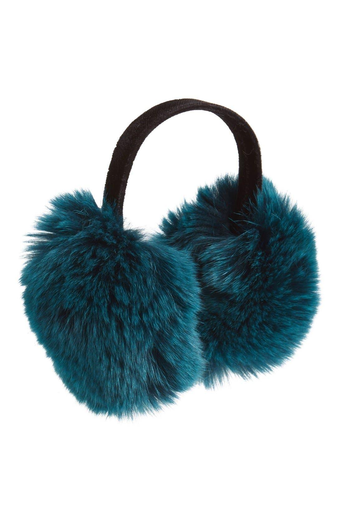 ,                             Genuine Fox Fur Earmuffs,                             Main thumbnail 15, color,                             440