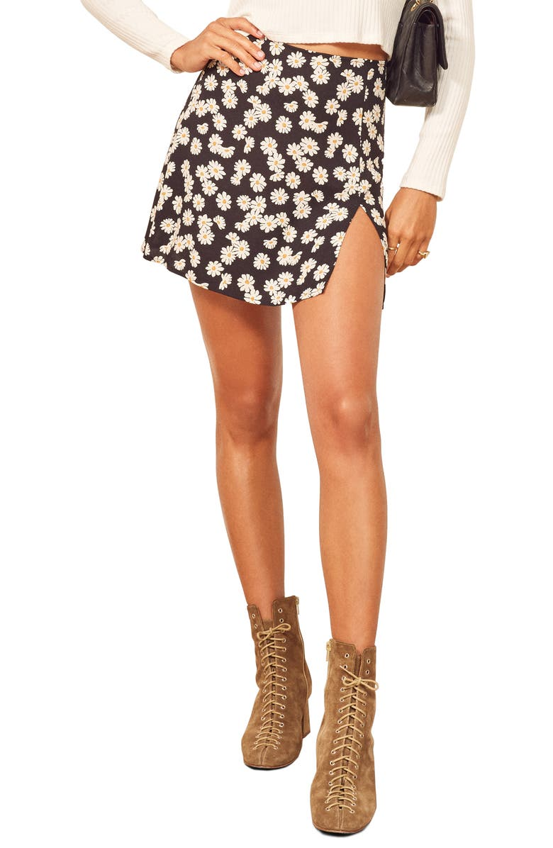 REFORMATION Margot Miniskirt, Main, color, DAISY CHAIN