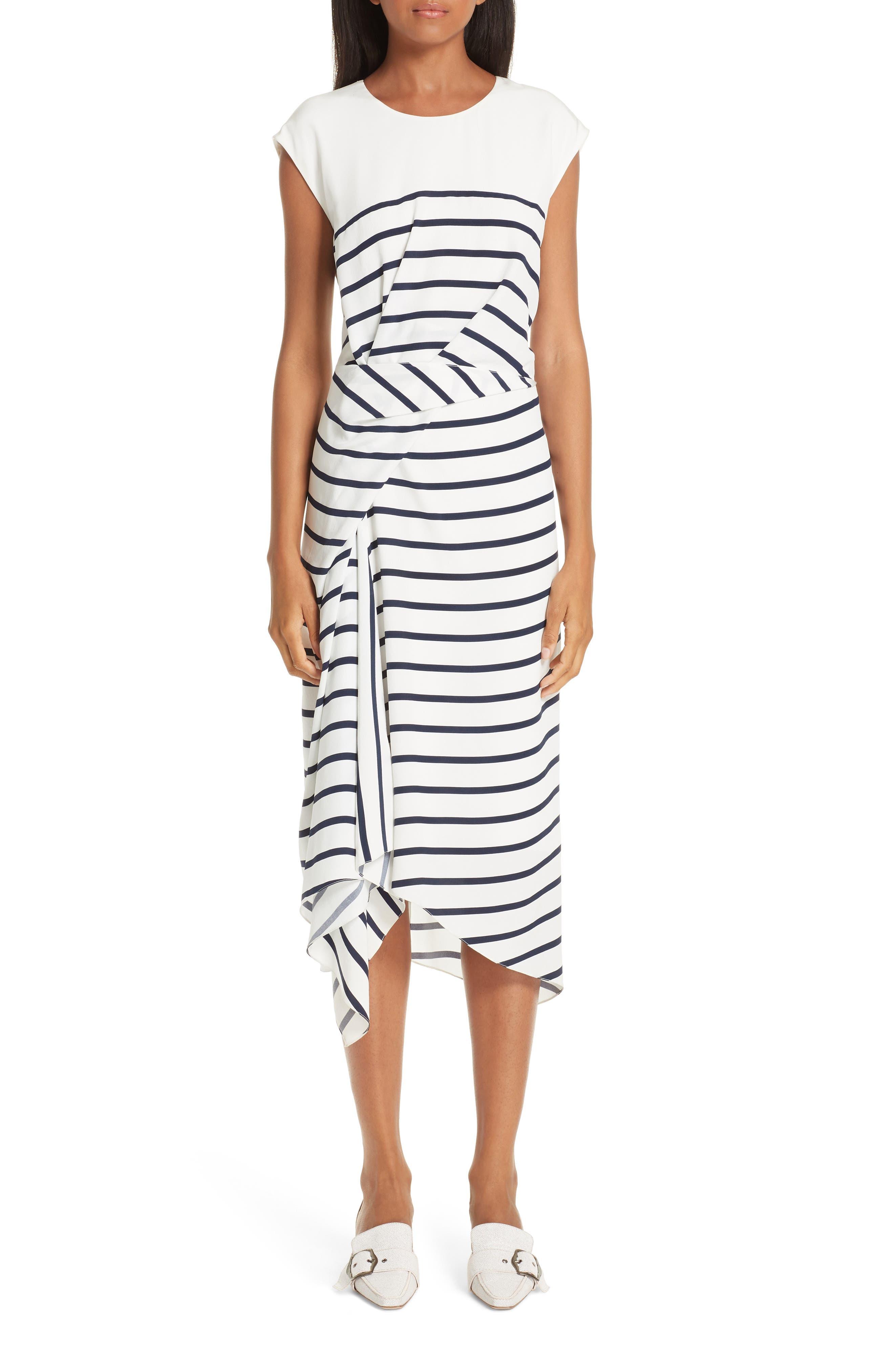 Sies Marjan Anita Stripe Silk Dress