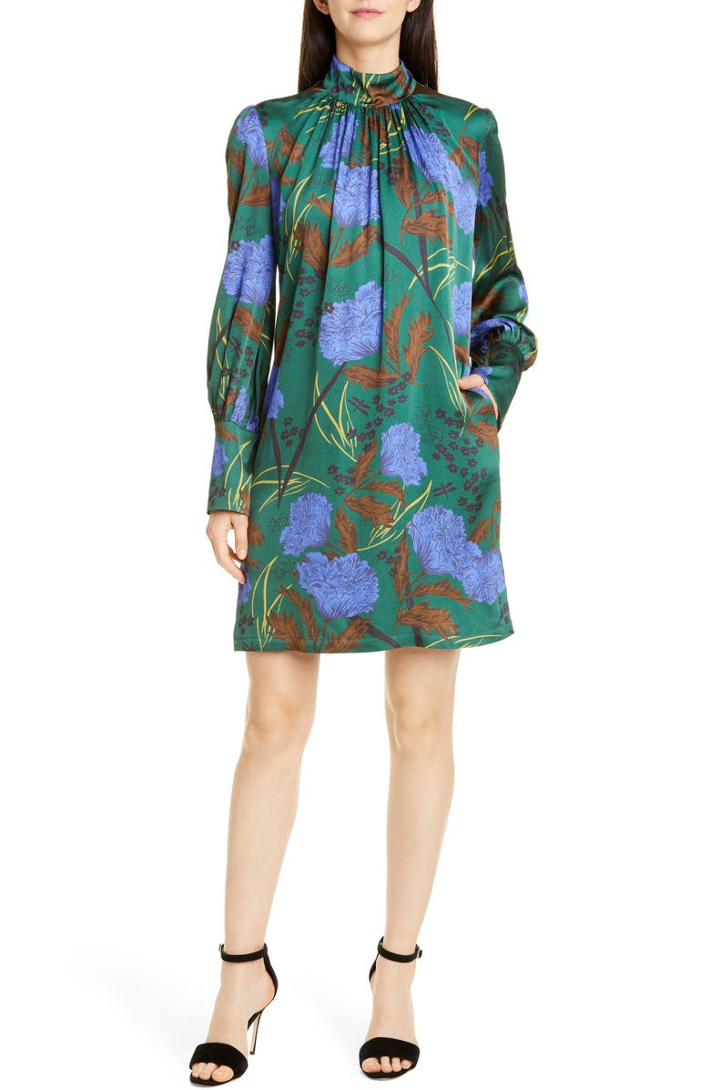 SEVENTY Long Sleeve Floral Shift Dress, Main, color, 300