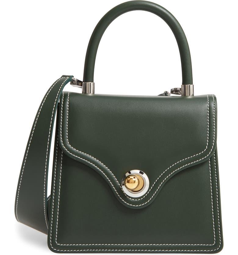 RATIO ET MOTUS Lady Leather Shoulder Bag, Main, color, EMERALD IVORY