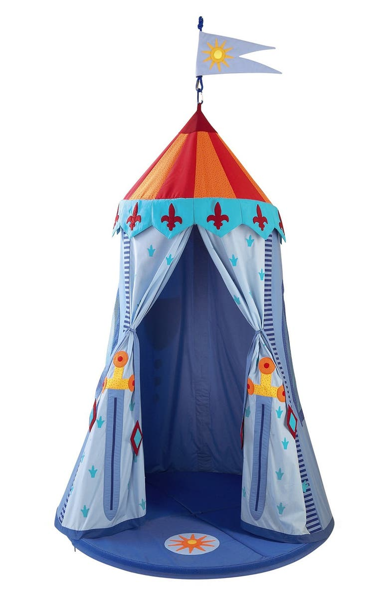 HABA 'Knights' Hanging Play Tent, Main, color, BLUE