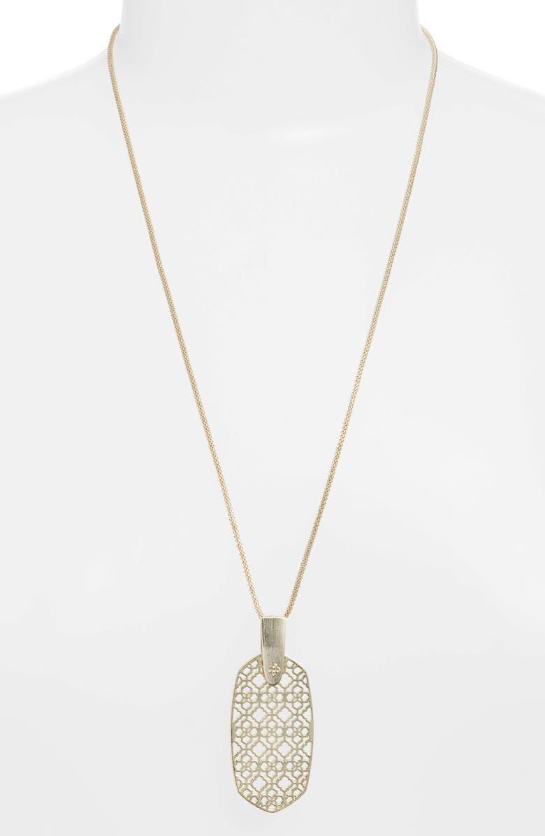 KENDRA SCOTT Inez Filigree Pendant Necklace, Main, color, GOLD FILIGREE
