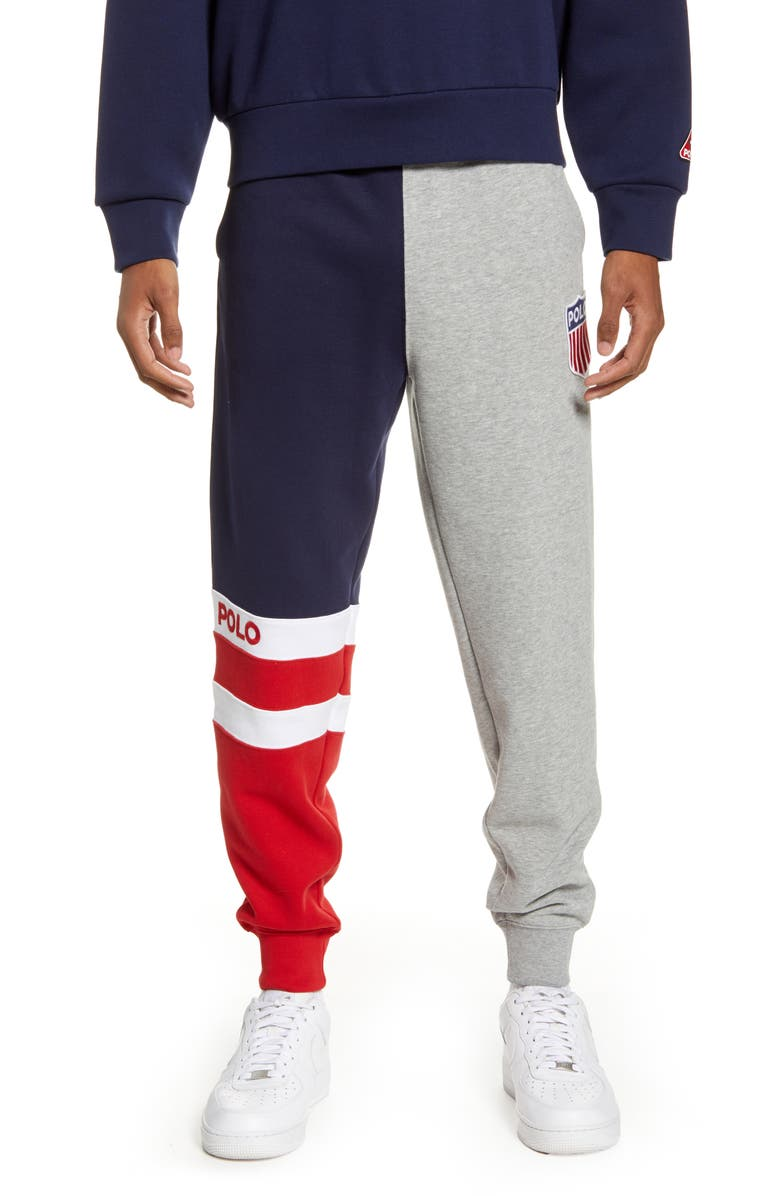 POLO RALPH LAUREN Polo Shield Sweatpants, Main, color, ANDOVER HEATHER MULTI