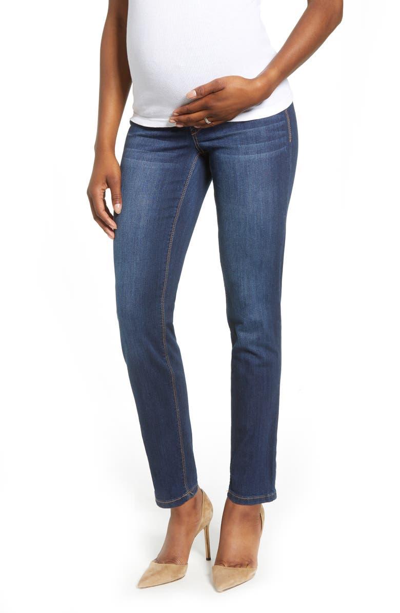 1822 DENIM Straight Leg Maternity Jeans, Main, color, LENNOX