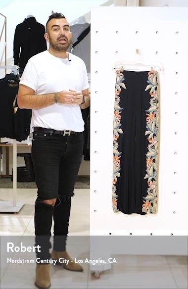 Split Spirit Floral Print Wide Leg Pants, sales video thumbnail