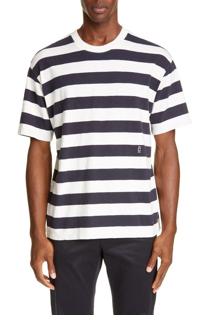 CLOSED Stripe Oversize T-Shirt, Main, color, DARK NIGHT