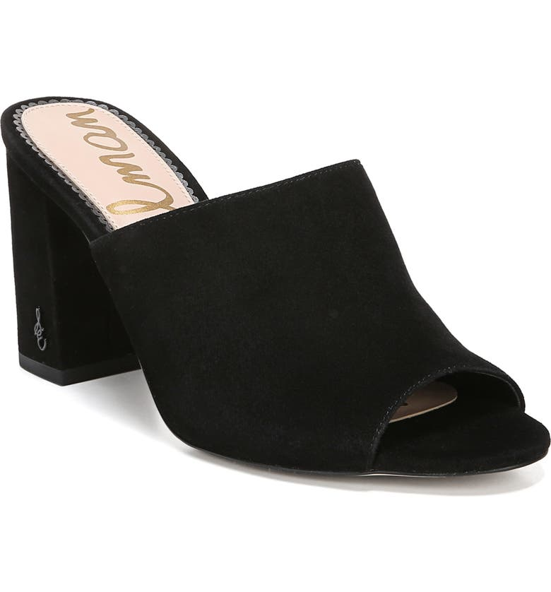 SAM EDELMAN Orlie Open Toe Mule, Main, color, BLACK
